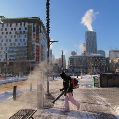 Beautful -25 °C in Calgary - Laubbläser war gestern