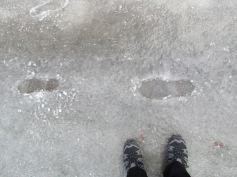 Walking on ice in Banff, Alberta (c) tanadia.com