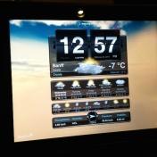 Wetter-App fürs iPad, gesehen an der Rezeption im Gold Floor