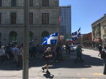 Auch hier gibt es sie, Separatisten. Für ein unabhängiges Quebec. Am Victoria Day - Copyright: tanadia.com