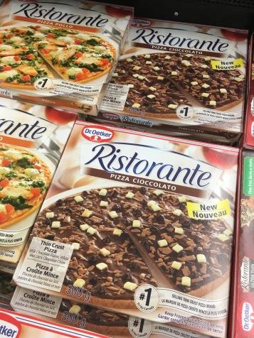 Schoko-Pizza hab ich in D noch nicht gesehen
